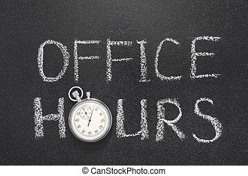 office hours gr - office hours phrase handwritten on...