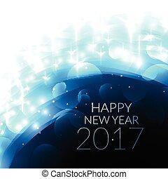 shiny blye 2017 happy new year card