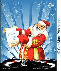 Christmas song - Illustration for Christmas and New Year....