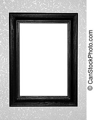 black antique frame on decorative background