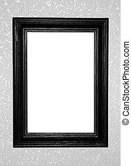 black antique frame on decorative background