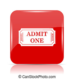 Admin one ticket icon. Admin one ticket website button on...