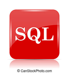 SQL icon. SQL website button on white background.