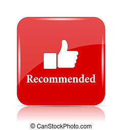 Recommended icon. Recommended website button on white...