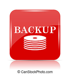 Back-up icon. Back-up website button on white background.