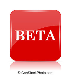 Beta icon. Beta website button on white background.