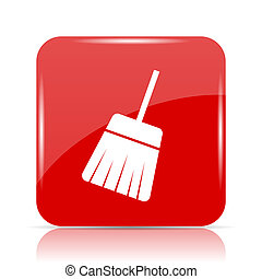 Sweep icon. Sweep website button on white background.