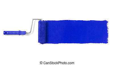 Paint roller isolated on white