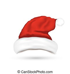 Hat Santa Claus Isolated On White Background