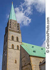 Tower of the Nikolai church in Bielefeld, Germany
