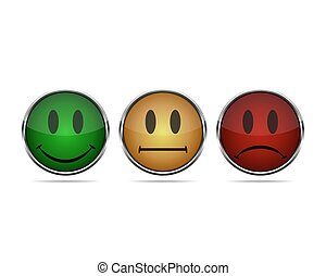 Smiley icons. Vector illustration. - Smiley faces rating...