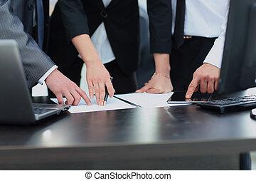 オフィス, グループ, 仕事, ビジネス, 人々