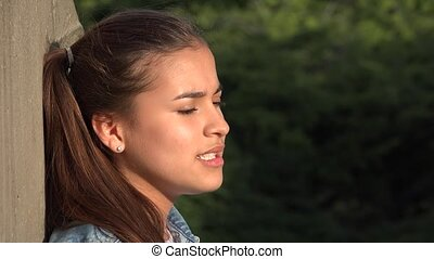 Teen Girl Listening And Nodding