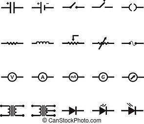 Electronic and Electric Symbol Vector by EPS10.