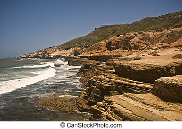 Pacific Rock Formation on the Pacific Coast of San Diego