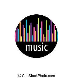 vector logo music - template design logo music. Vector...