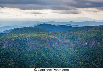 View of the Blue Ridge Mountains from Hawksbill Mountain, on...