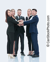 Successfull busines team isolated on white background -...
