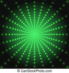 Abstract green technology background of luminous dots -...