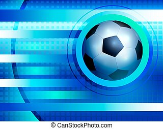 Soccer background - Abstract blue background with a soccer...