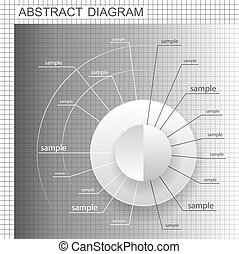 Abstract business chart. Wheel plan. Blank diagram design...