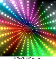 Abstract light glowing rainbow background. Abstract Disco...