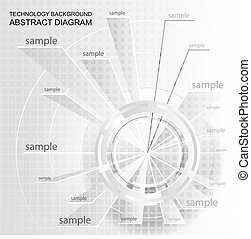Wheel pie diagram - Abstract technology chart. Wheel pie...