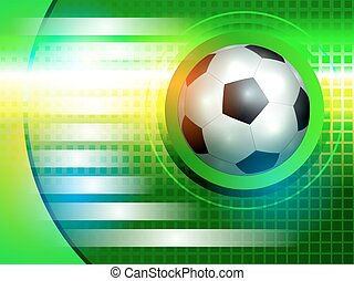 Soccer background - Template for information on football...