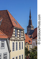 Cityscape of the historical center of Osnabruck, Germany