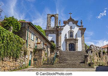 Church in the historical center of Ponte de Lima