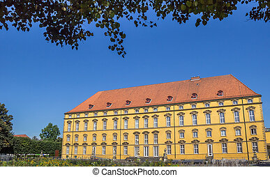 Garden and main building of the University of Osnabruck,...