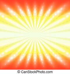 Abstract radiant fiery background