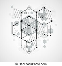 Modular Bauhaus vector background, created from simple...