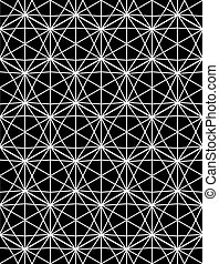 Monochrome abstract textured geometric seamless pattern with...