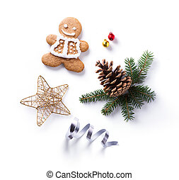 Christmas holiday Decoration; Christmas gift, fir tree...