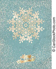 Christmas postcard with snowflake. EPS 10 vector file...