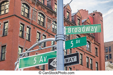 Street sign of Madison avenue in New York City