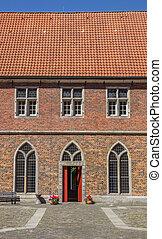 Courtyard of the monastery Frenswegen near Nordhorn, Germany