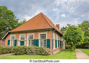 Traditional house at the monastery of Wietmarschen, Germany