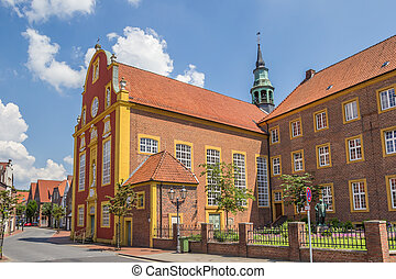 Gymnasialchurch in the historic center of Meppen, Germany