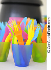 The colorful plastic cuttlery - The colorful plastic cutlery...