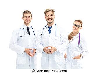 斷言, 醫學, 針對, 背景, 隊, 肖像, 白色
