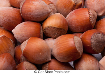 Macro shooting of nuts. Healhty nutrition and diet