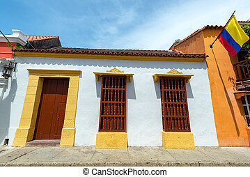 White Colonial Architecture in Cartagena - White colonial...