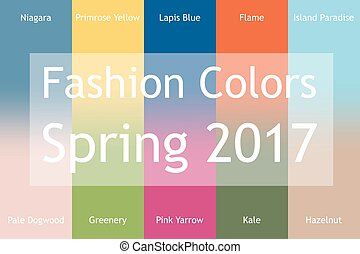 Blurred fashion infographic with trendy colors of the 2017...