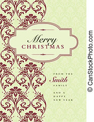Vector Christmas Frame and Pattern - Vector holiday frame...