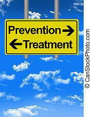 Prevention versus treatment on road sign
