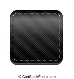Black line button vector