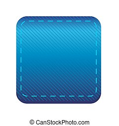 Blue line button vector