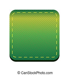 Green line button vector